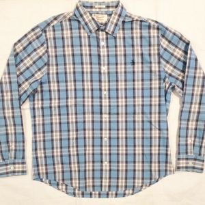 PENGUIN PLAID LONG SLEEVE COTTON BUTTON SHIRT XL